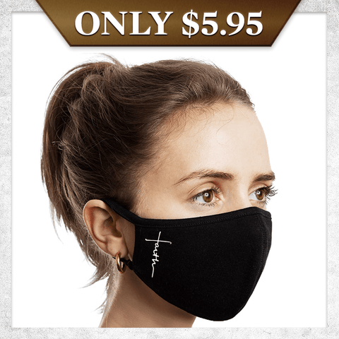 Faith Cross Face Mask