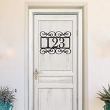 Fancy Address Monogram - Redline Steel