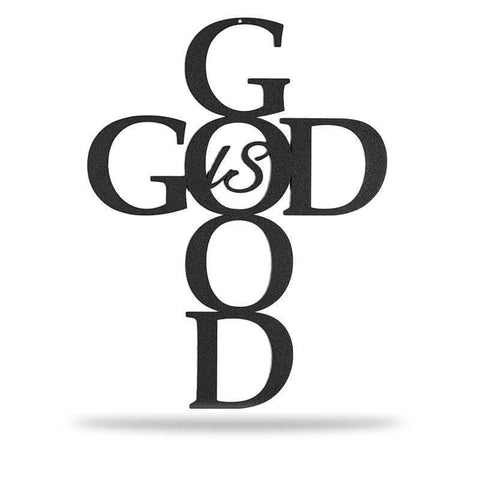 God is Good - Black - Redline Steel
