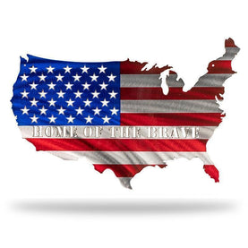 US Conus Flag - Red/Blue