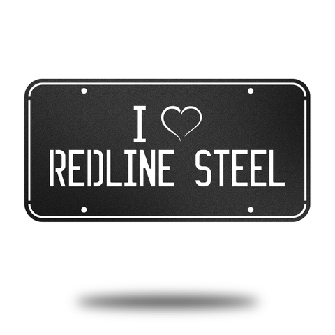 Redline License Plate - Redline Steel