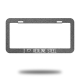 Redline License Plate Cover - Redline Steel