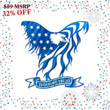 In God We Trust Eagle - Blue (Promotion) - Redline Steel