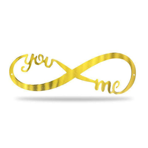 "18"" Infinity Sign - GOLD - Redline Steel"