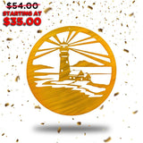 Lighthouse Circle (New Years Blowout Collection) - Redline Steel