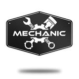 Mechanic Badge - Redline Steel