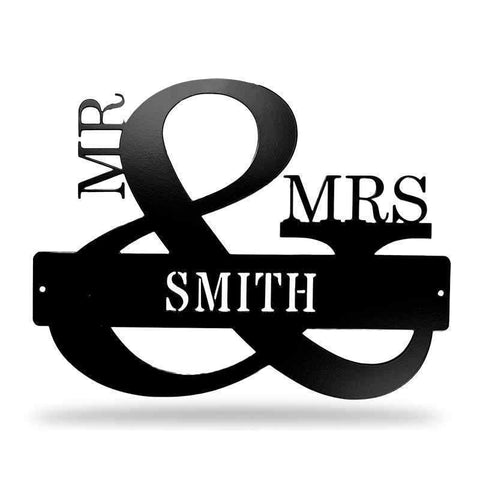 Monogram - Mr and Mrs - Redline Steel