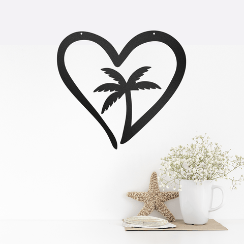 Palm Tree Heart - Redline Steel
