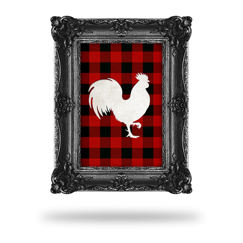 Plaid Rooster (UV Steel)
