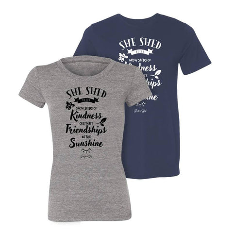 She Shed Rules T-Shirt - Redline Steel