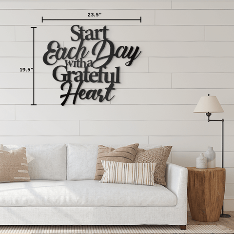 Start Each Day - Quote