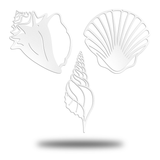Summer Beach Set (Sea Shell, Conch Shell, and Snail Shell) - Redline Steel