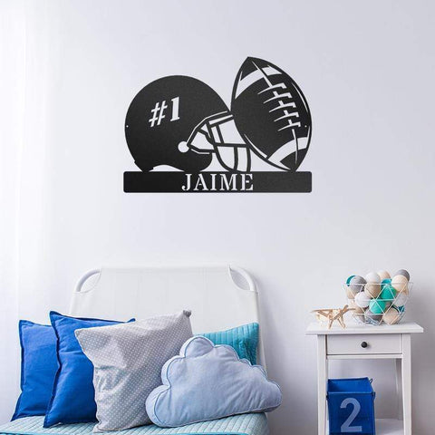 Touchdown Football Monogram - Redline Steel