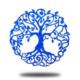 "9"" Tree of Life - Blue - Redline Steel"