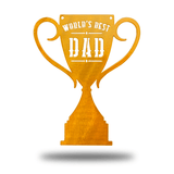 World's Best Dad Trophy - Redline Steel