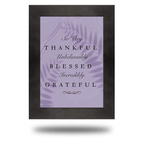 Thankful, Blessed, and Grateful (Canvas) - Redline Steel