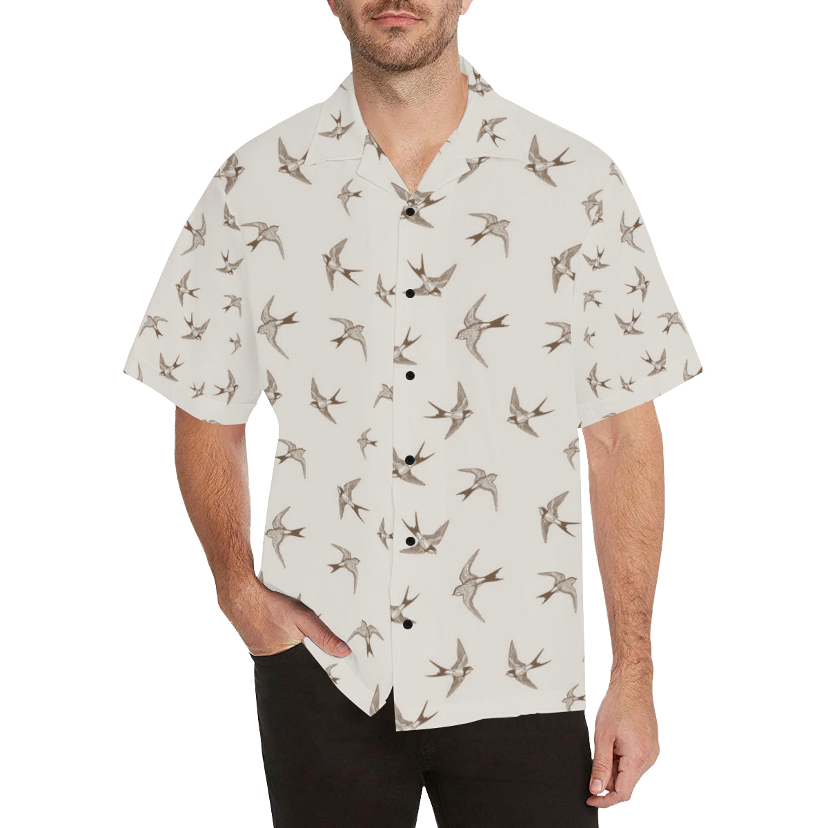 Swallow Bird Pattern Print Design 01 Hawaiian Shirt