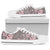 Cherry Blossom Pattern Print Design CB05 White Bottom Low Top Shoes
