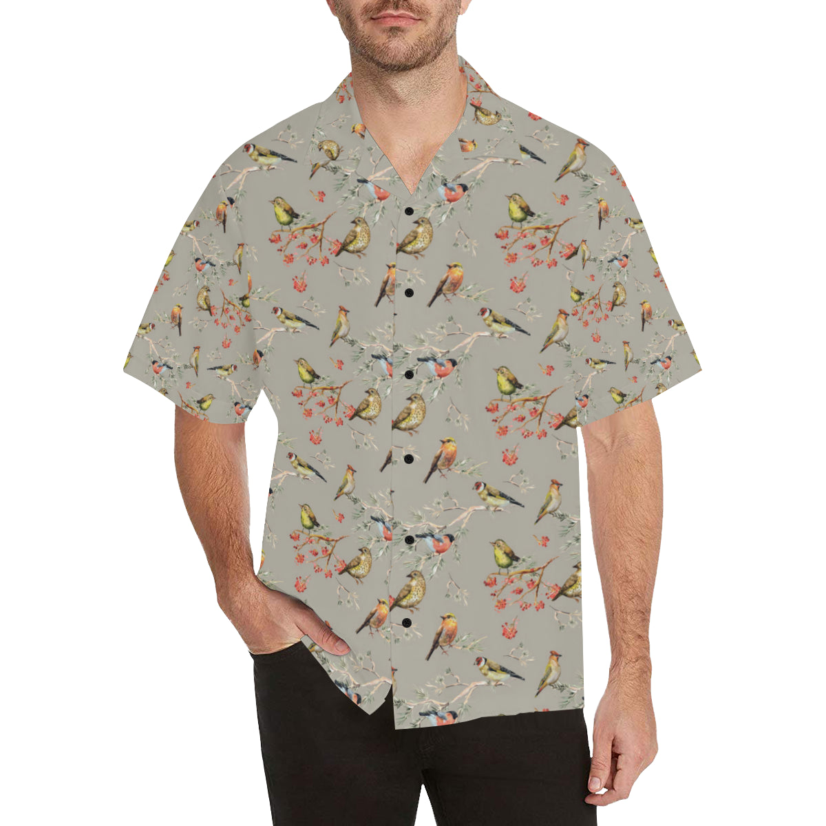 Birds Pattern Print Design 03 Hawaiian Shirt