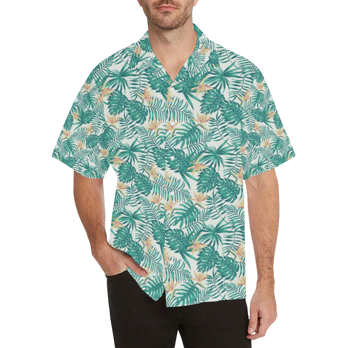Bird Of Paradise Pattern Print Design 05 Hawaiian Shirt
