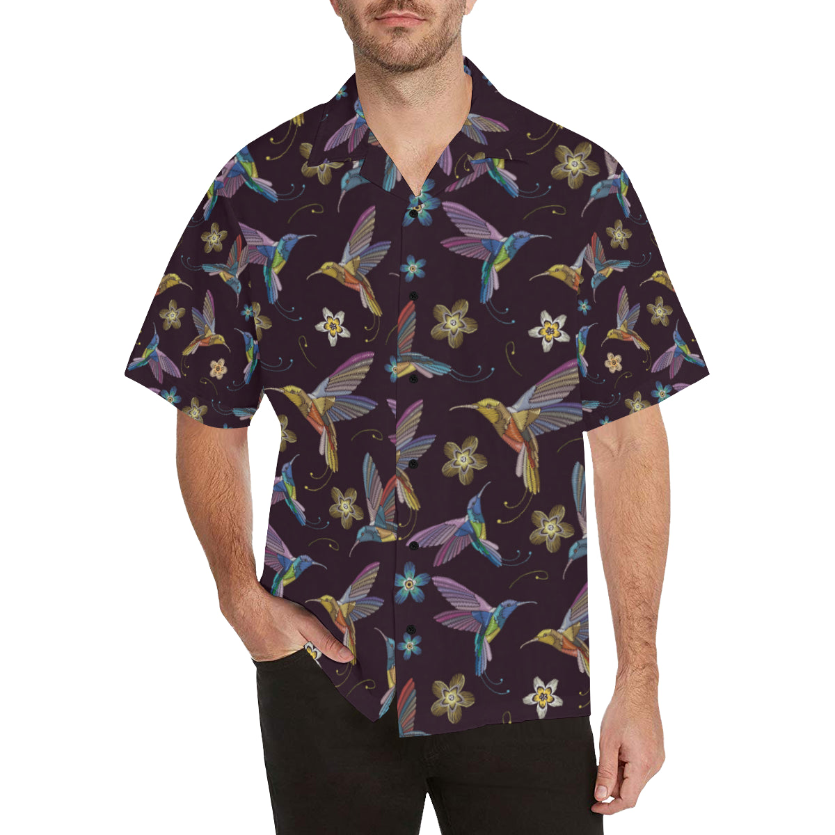 Hummingbird Pattern Print Design 04 Hawaiian Shirt