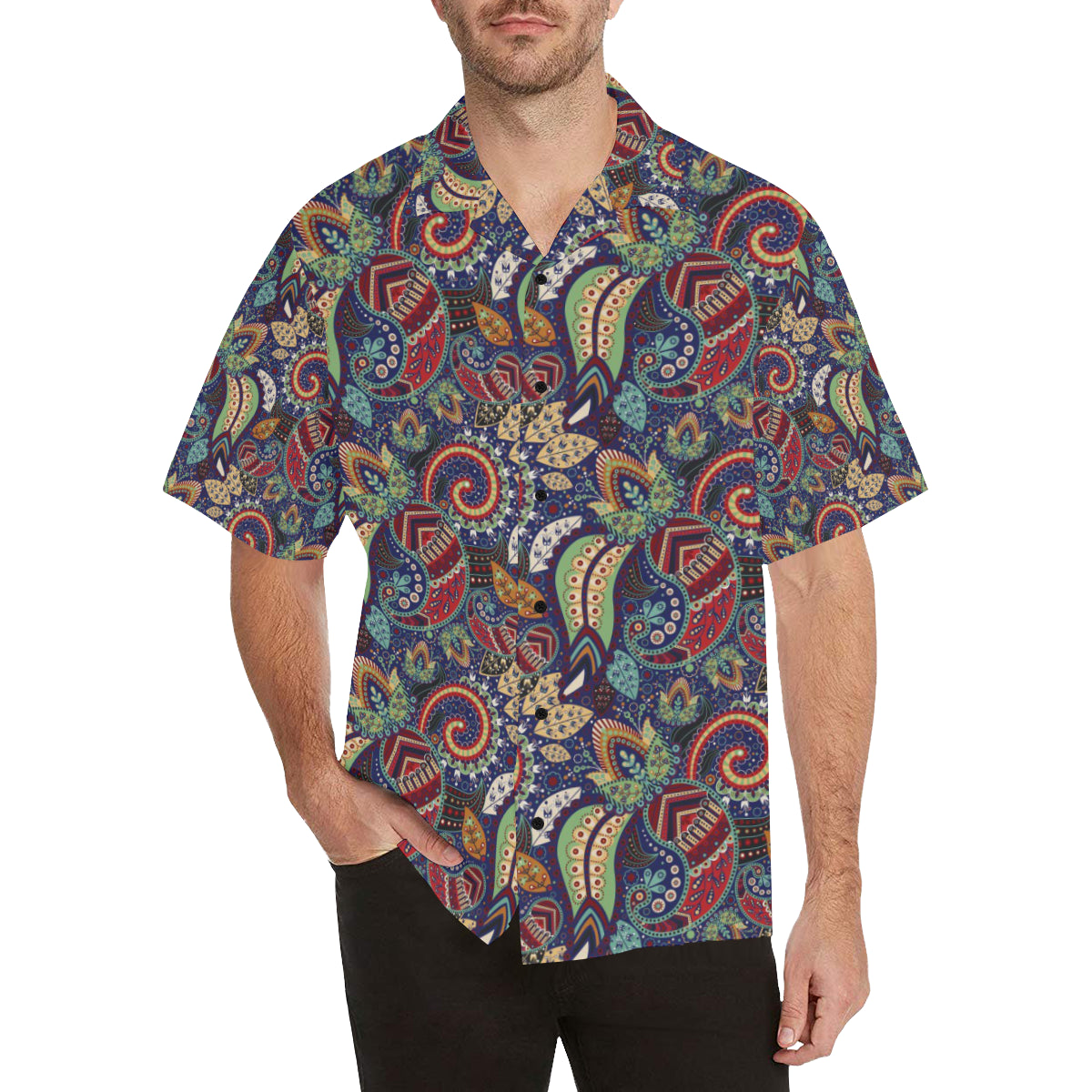 Paisley Boho Pattern Print Design A03 Hawaiian Shirt
