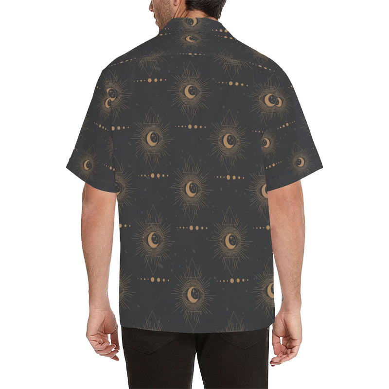 Moon Boho Pattern Print Design 02 Hawaiian Shirt