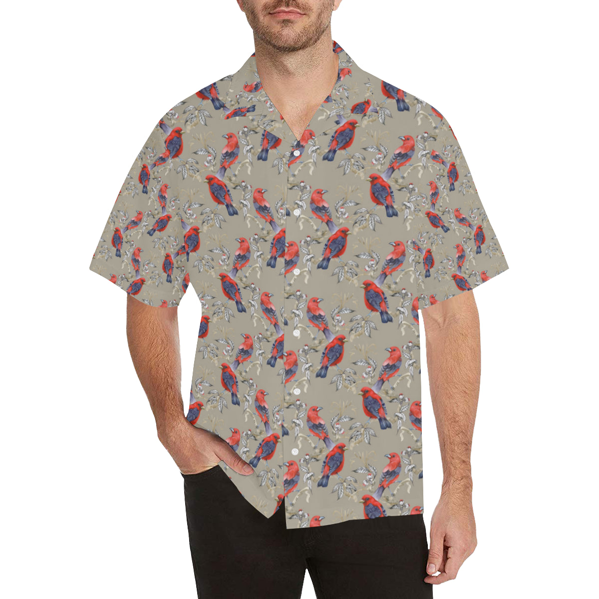 Birds Pattern Print Design 05 Hawaiian Shirt