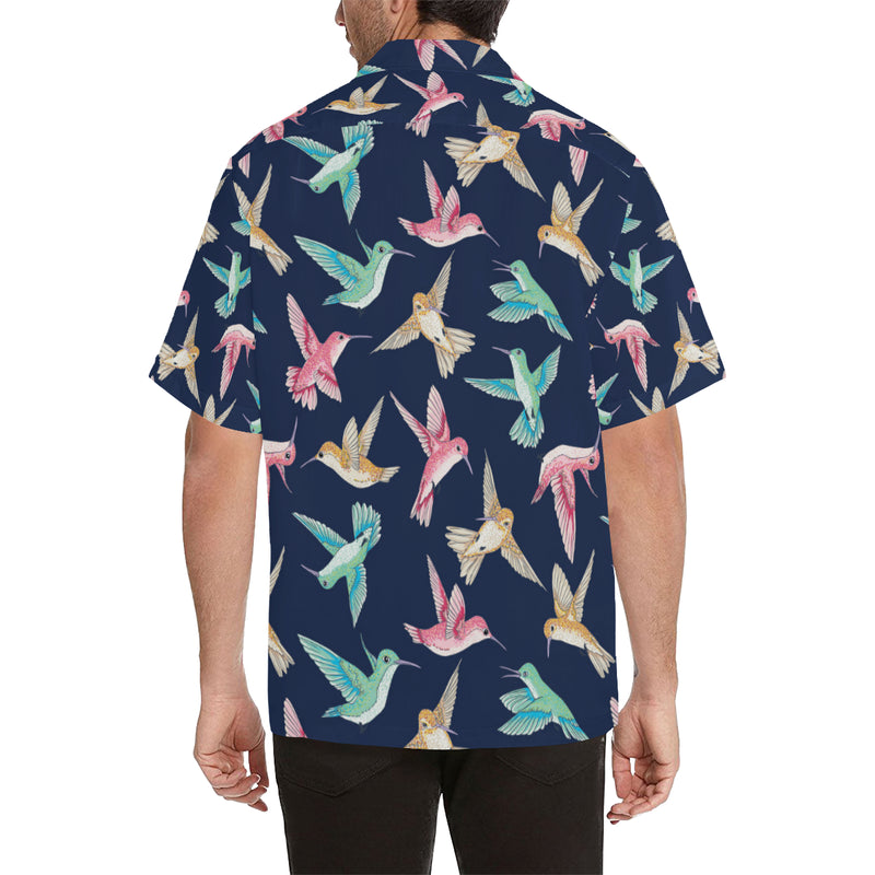 Hummingbird Cute Pattern Print Design 01 Hawaiian Shirt
