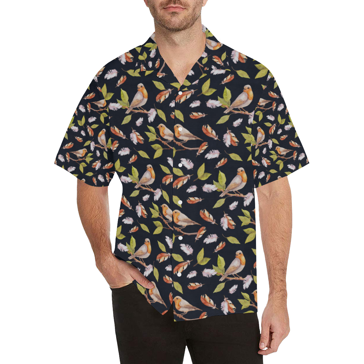 Birds Pattern Print Design 02 Hawaiian Shirt