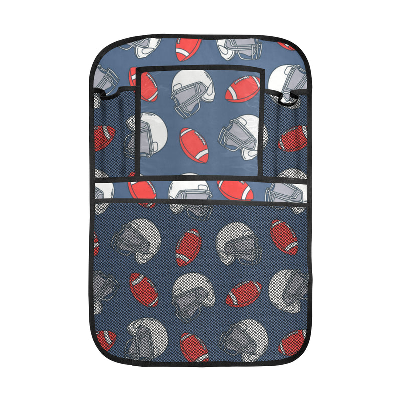 American Football Helmet Design Pattern Car Back Seat Organizer