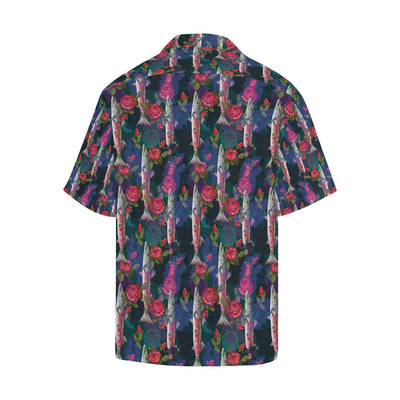 Barracuda with Folwer Pattern Print Design 01 Hawaiian Shirt