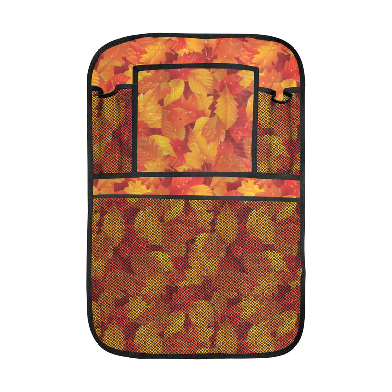 Elm Leave Autum Print Pattern Car Back Seat Organizer