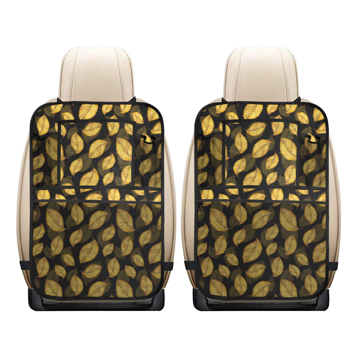 Elm Leave Summer Print Pattern Car Back Seat Organizer