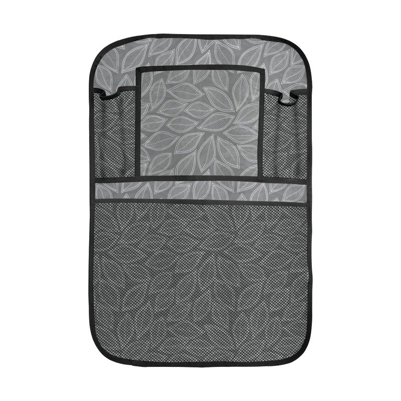 Elm Leave Grey Print Pattern Car Back Seat Organizer