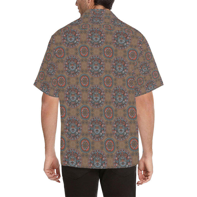 Calendar Aztec Pattern Print Design 03 Hawaiian Shirt