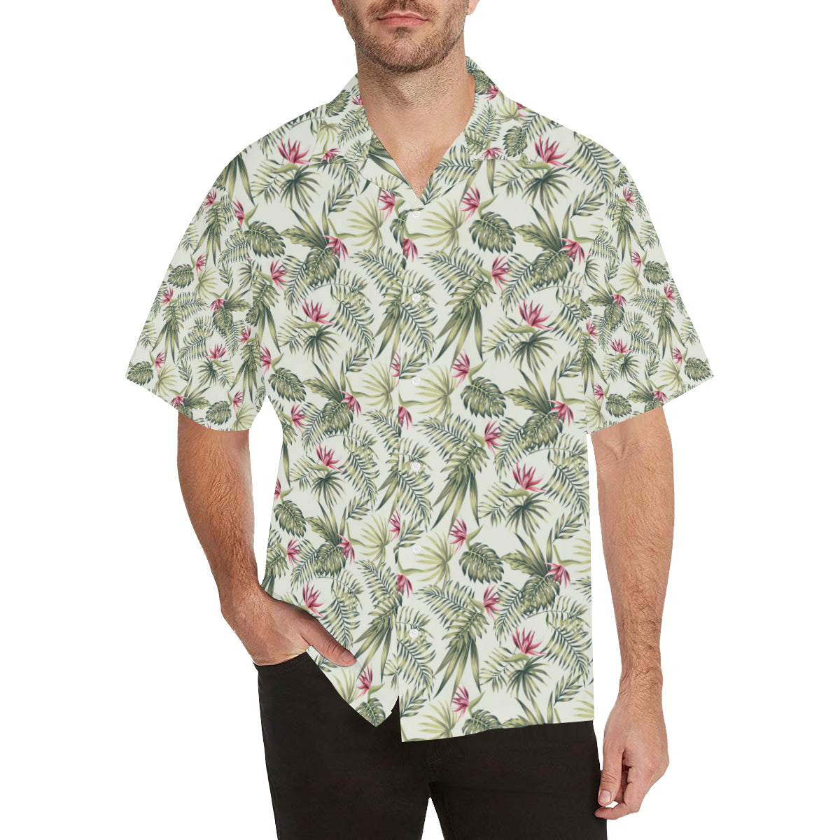 Bird Of Paradise Pattern Print Design 04 Hawaiian Shirt