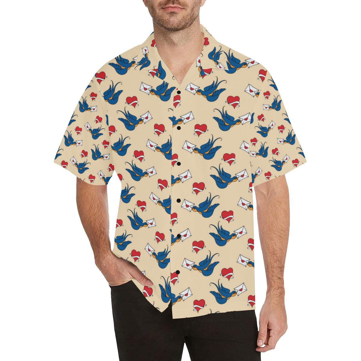 Swallow Bird Pattern Print Design 05 Hawaiian Shirt