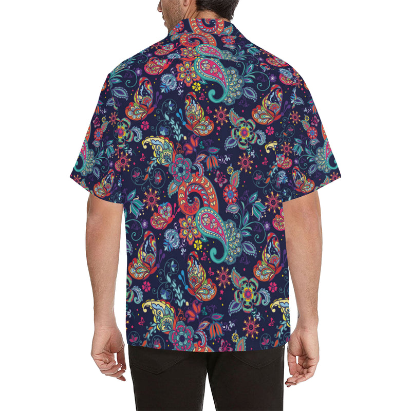 Paisley Boho Pattern Print Design A06 Hawaiian Shirt