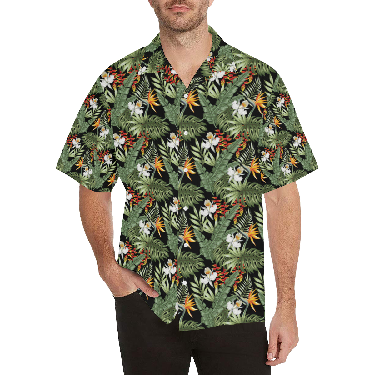 Bird Of Paradise Pattern Print Design 02 Hawaiian Shirt