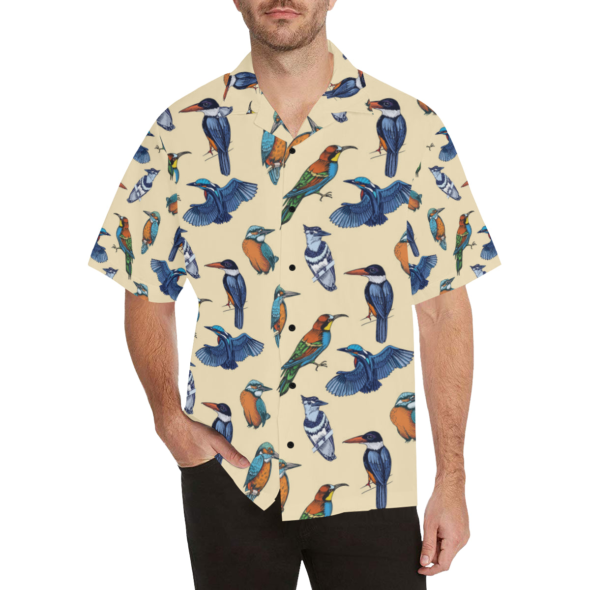 Kingfisher Bird Pattern Print Design 04 Hawaiian Shirt