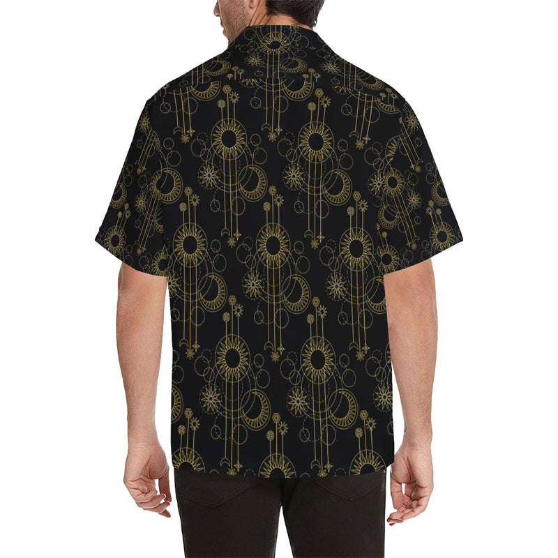 Moon Boho Style Pattern Print Design 01 Hawaiian Shirt