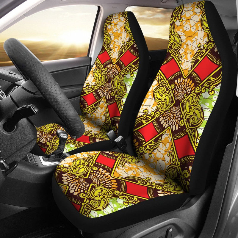 African Classic Print Pattern Universal Fit Car Seat Covers