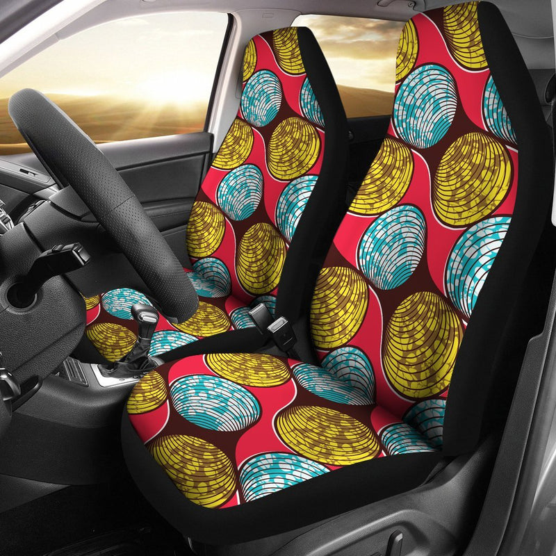 African Fashion Print Pattern Universal Fit Car Seat Covers