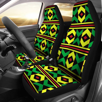 African Geometric Print Pattern Universal Fit Car Seat Covers