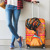 African Girl Aztec Luggage Cover Protector