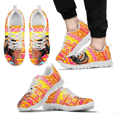 African Girl Aztec Men Sneakers