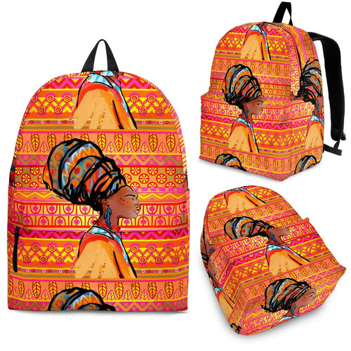 African Girl Aztec Premium Backpack