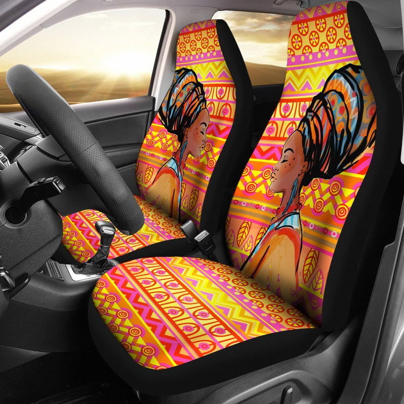 African Girl Aztec Universal Fit Car Seat Covers