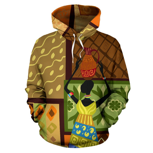 African Girl Design All Over Print Hoodie